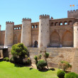 Aljaferia palace castle in Zaragoza Spain Aragon - Stock Photo