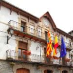 Anso city council facade building Pyrenees — Stock Photo