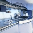Blue silver kitchen modern architecture decoration — Stock Photo #5510840