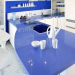 Blue white kitchen modern interior design house — Stock Photo #5510869