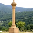 Way of saing James cross in column Villanua Huesca - Stock Photo