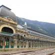 Canfranc train station old monument Spain — Stock Photo #5511001