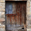 Aged wood doors weathered vintage — Stock Photo