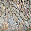 Ancient Roman pavement in Way of Saint James — Stock Photo