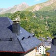 Stock Photo: Panticosvillage high view slate roofs Pyrenees
