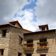 Ainsa medieval romanesque village street Spain — Stock Photo #5511125