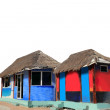 Hut palapa colorful tropical cabin isolated — Stock Photo