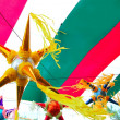 Mexican pinata in mexico flag background — Stock Photo #5511281
