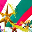 Stock Photo: Mexican pinata in mexico flag background