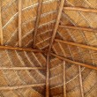 Palapa tropical Mexico wood cabin roof detail — Stock Photo