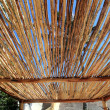 Palapa tropical Mexico wood cabin roof detail — Stock Photo #5511335