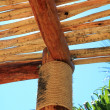 Stock Photo: Palaptropical Mexico wood cabin roof detail
