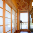 Corridor with window, nice light interior — Stock Photo