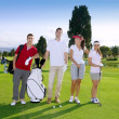 Golf course group young players team — Stock Photo #5511567