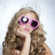 Royalty-Free Stock Photo: Fashion victim little princess girl portrait