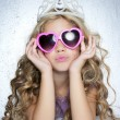 Fashion victim little princess girl portrait — Stock Photo #5512682