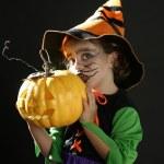 Toddler girl , halloween costume — Stock Photo