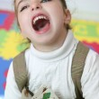 Beautiful little girl laugh happy at home — Stock Photo