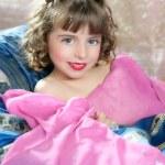 Beautiful little princess magic pink girl — Stock Photo #5513280