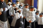 Handcraft clay figurines balearic islands payes — Stock Photo