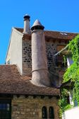 Hecho village chimney Huesca Aragon Pyrenees — Stock Photo