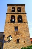 Santa Cilia Jaca romanesque church belfry tower — Stock Photo