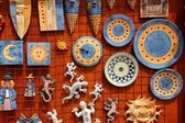 Santa Cruz Seros handcraft ceramics souvenir — Stock Photo