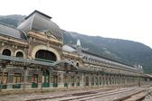 Canfranc train station old monument Spain — Stock Photo