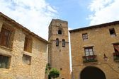 Ainsa medieval romanesque village church Spain — Stock Photo