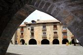 Ainsa medieval romanesque village street Spain — Stock Photo