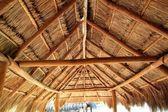 Caribbean wooden sun roof Palapa — Stock Photo