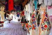 Handcrafts market in Mexico Puerto Morelos — Stock Photo