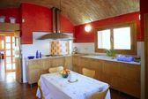 Kitchen with barrel vault ceeling — Stock Photo
