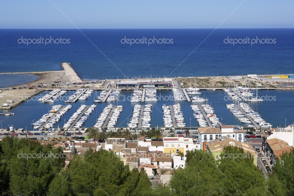 Denia alicante spain high view marina stock photo - Stock uno alicante ...