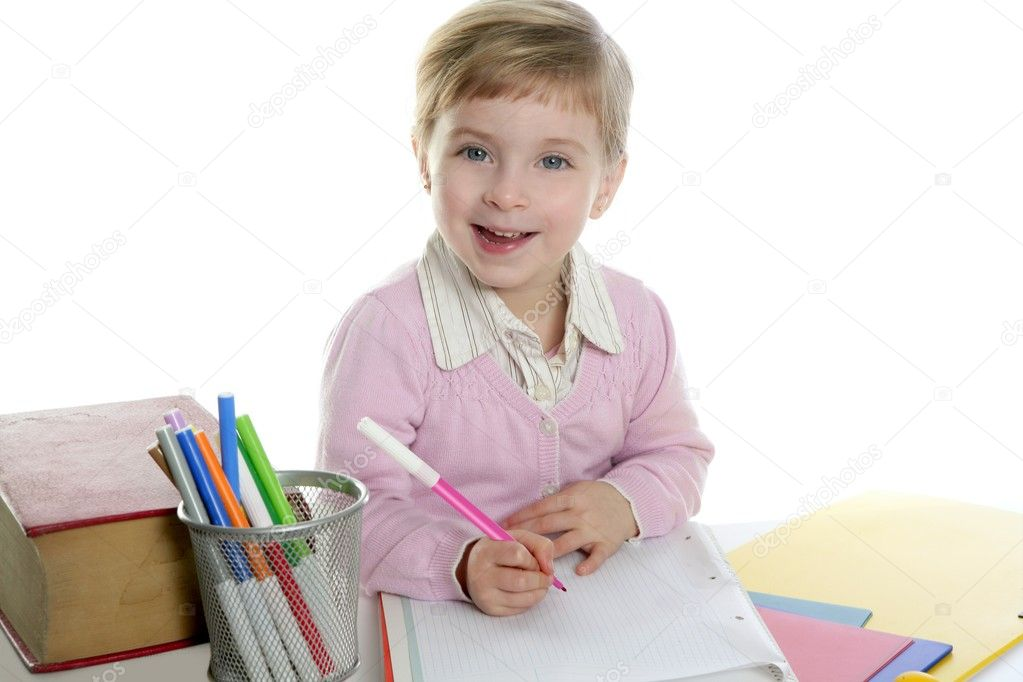 Depositphotos Stock Photo Little Girl Happy Student On Smiling Size Ext