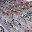 Glasses for close up view in rows many eye glasses - Foto Stock