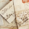 Anonymous handwritten real old letters from Spain — Stok fotoğraf