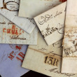 Anonymous handwritten real old letters from Spain — 图库照片