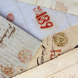 Anonymous handwritten real old letters from Spain — Stock Photo