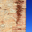 Bricks corner detail in masonry wall ancient — Stock Photo #5559660