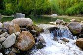 Mijares river near Montanejos nature Castellon — Stock Photo