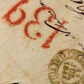 Lettres anonymes de vrais vieux manuscrites d'espagne — Photo