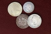 Eighteenth and nineteenth century spain old coins — Stock Photo
