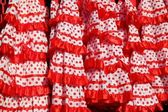 Gipsy dress red spots pattern texture andalusian — Stock Photo