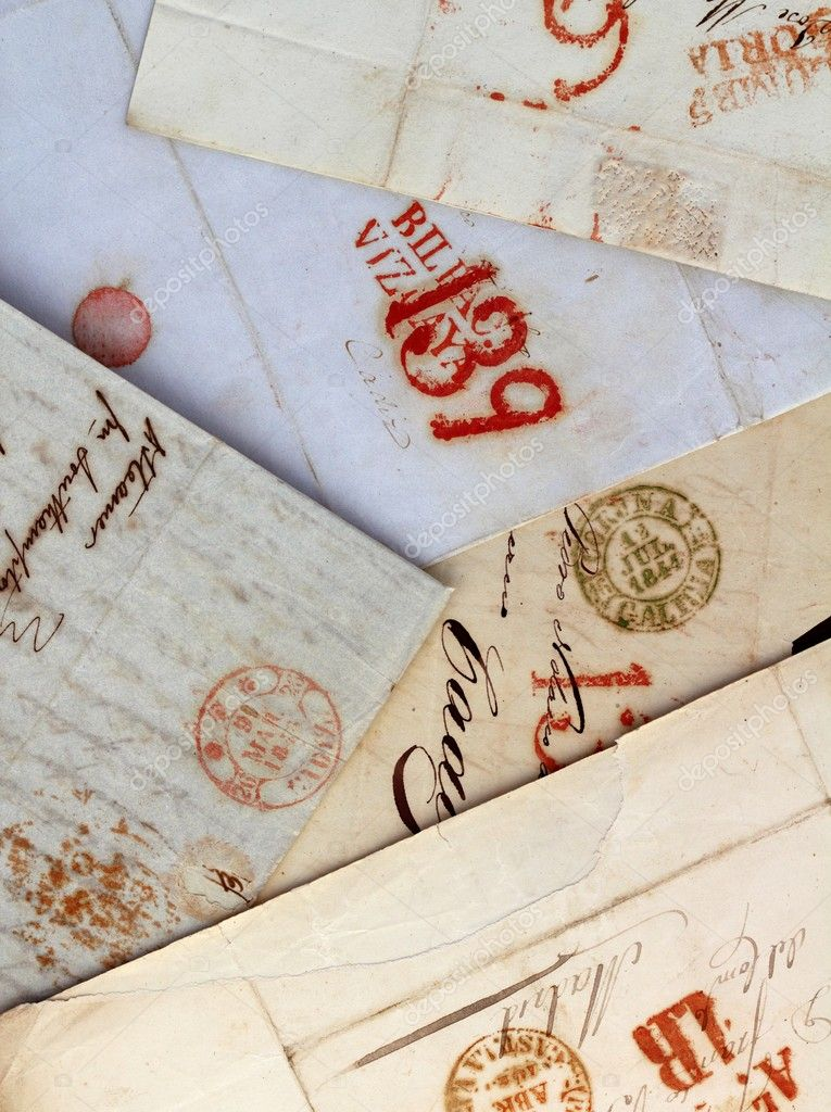 Anonymous handwritten antique real old letters from Spain postmail — Stock Photo #5557649