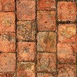 Bricks clay soil pavement arrangement traditional Spain - Stock Photo