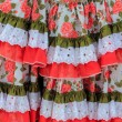 Costumes gypsy ruffle dress andalusian Spain — Foto Stock