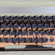 Ancien aged typewriter vintage retro qwerty - Stock Photo