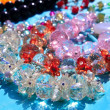 Crystal transarent jewellery macro detail — Stock Photo