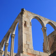 Arches structure of ancient Monastery in Spain — Foto Stock